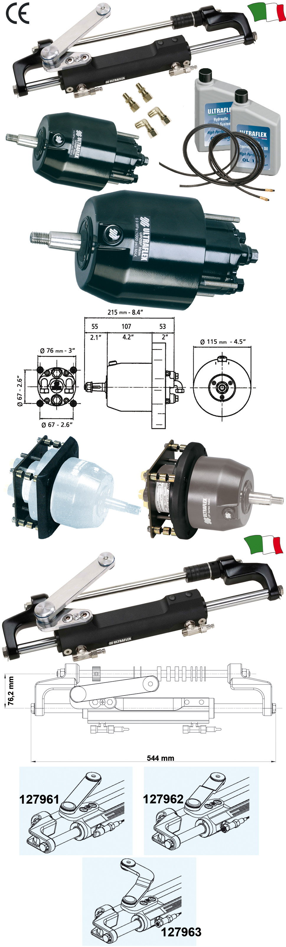 ULTRAFLEX HYDRAULIC STEERING SYSTEM FOR OUTBOARD ENGINES UP