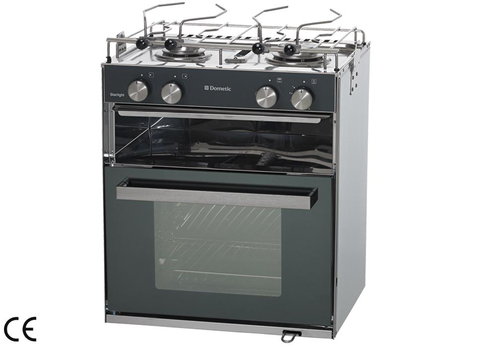 Cucina a gas con piano di cottura inox 2 fuochi e forno - Cucina piano cottura e forno ...