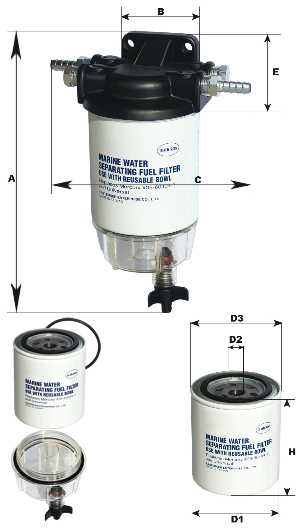 Fuel Filter Gfn Gibellato Forniture Nautiche Yamaha 10 Micron