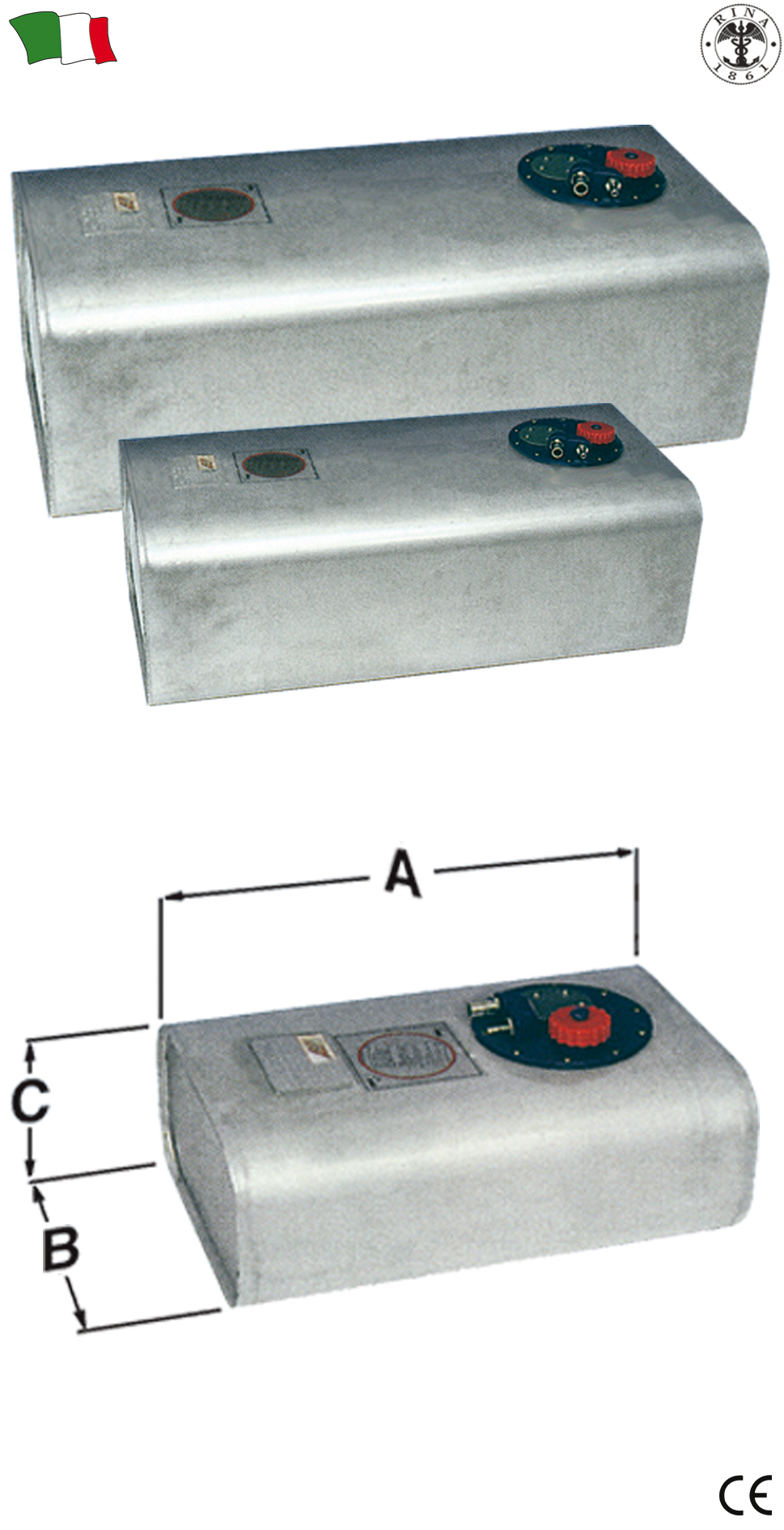 Serbatoi fissi in acciaio inox g f n gibellato for Gibellato nautica