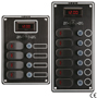 WATERPROOF ELECTRIC SWITCH PANEL WITH LED LIGHTS AND DIGITAL VOLTMETER
