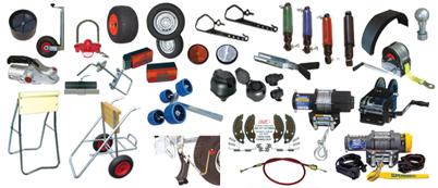 Towage and accessories for trailers