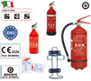 POWDER FIRE EXTINGUISHER MED HOMOLOGATED WITH PRESSURE GAUGE