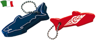 FLOATING SHARK-SHAPED KEYRING