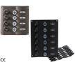 WATERPROOF ELECTRIC SWITCH PANEL WITH LED LIGHTS