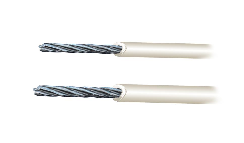 Cavo in acciaio inox aisi 316 49 fili rivestito in pvc g for Cavi acciaio arredamento