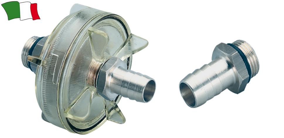 Filtro acqua con raccordo per tubo d interno mm 16 for Materiale del tubo della linea d acqua