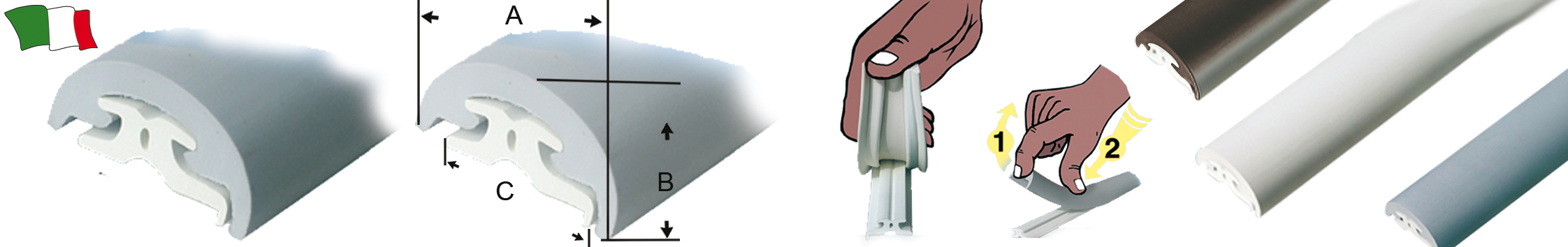 Profili parabordo in pvc g f n gibellato forniture nautiche for Scatolati in acciaio inox